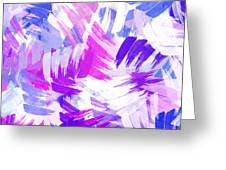 Purple Abstract Paint Pattern Greeting Card