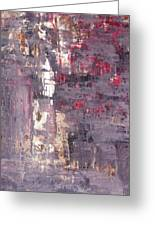Vineyard - Purple And Beige Abstract Art Painting Greeting Card