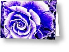 Purple And Blue Rose Expressive Brushstrokes Greeting Card