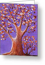 Purple And Orange Greeting Card