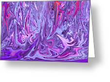 Purple And Pink Abstract Greeting Card