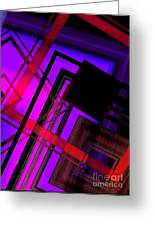Purple And Red Art Greeting Card by Mario Perez