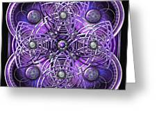 Purple And Silver Celtic Cross Greeting Card