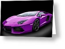 Purple Aventador Greeting Card