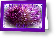 Purple Awareness Support Greeting Card