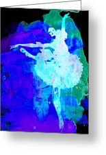 Purple Ballerina Watercolor Greeting Card