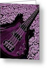 Purple Bass Greeting Card