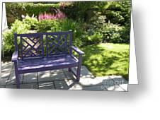 Purple Bench Greeting Card