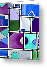 Purple -blue -green  Abstract 2 Greeting Card