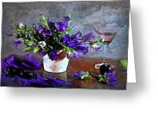 Purple Blues Greeting Card