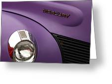 Purple Bomb Greeting Card