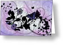 Purple Butterflies Greeting Card