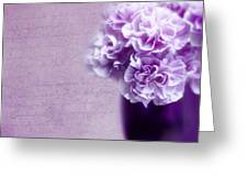 Purple Carnations Greeting Card