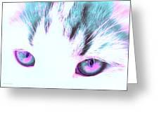 Purple Cat Eyes Greeting Card