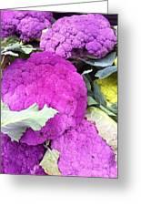 Purple Cauliflower Greeting Card