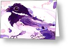 Purple Chick Greeting Card