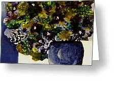 Purple Chrysanthemum Greeting Card