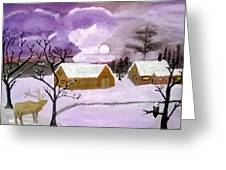 Purple Cold Greeting Card
