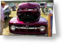Purple Color Pickup Truck Greeting Card