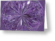Purple Crystal Gem Greeting Card