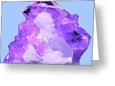 Purple Crystal Quartz Greeting Card