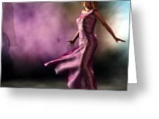 Purple Dancer Greeting Card