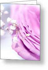 Purple Delight. Natural Watercolor Greeting Card
