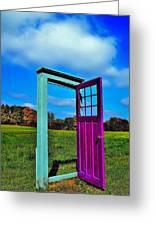 Purple Door - Alternate Reality - Canada Greeting Card