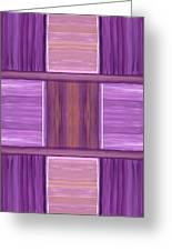 Purple Dreams Squares Greeting Card