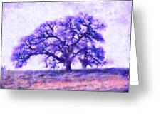 Purple Dreamtime Oak Tree Greeting Card