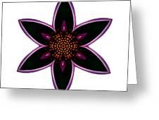 Purple Echinacea I Flower Mandala White Greeting Card