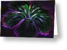 Purple Edges Greeting Card