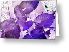Purple Elephants Greeting Card