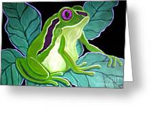 Purple Eyed Frog Greeting Card