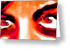 Purple Eyes - Marcello Cicchini Greeting Card