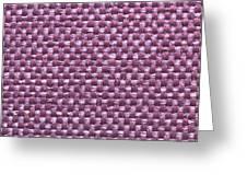 Purple Fabric Greeting Card