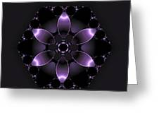 Purple Fantasy Flower Greeting Card