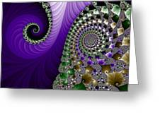 Purple Feathers Greeting Card