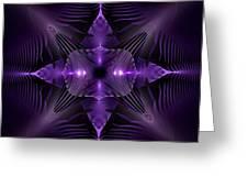 Purple Fingerz Greeting Card