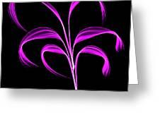Purple Flaring Plant Greeting Card