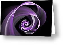 Purple Flirt Greeting Card