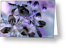 Purple Flower Abstract  2 Greeting Card