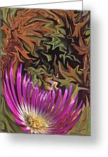 Purple Flower Abstract Greeting Card
