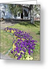 Purple Flowerbed Greeting Card