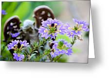 Purple Flowered Angel Greeting Card