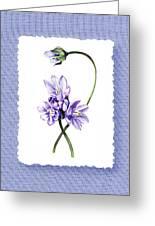 Purple Flowers Serenade Botanical Impressionism Greeting Card