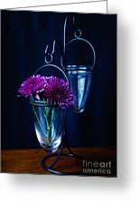 Purple Flowers Still Life Greeting Card
