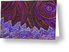 Purple Forest Moon Greeting Card