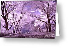 Purple Forest Greeting Card