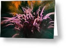 Purple Fountain Grass Fantasy Greeting Card